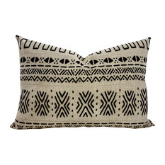 TheWatsonShop - Zigzag Mudcloth Rectangle Pillow - Decorative Pillows