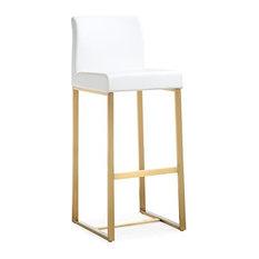 Denmark White Gold Steel Barstool (set Of 2)