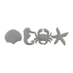 Coastal Sea Life 4 Piece Cast Iron Drawer Pull Or Cabinet Knob Set