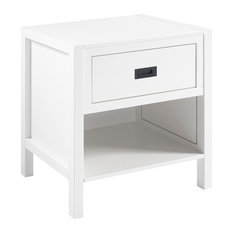 1-Drawer Classic Solid Wood Nightstand, White