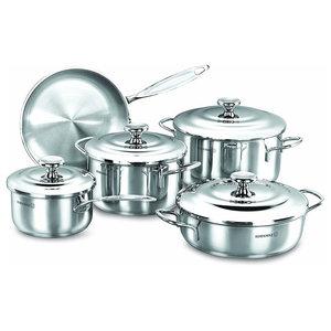 Korkmaz Droppa 9--Piece Stainless Steel Cookware Set