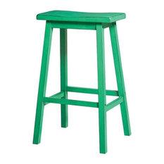 ACME Furniture Gaucho 29 Bar Stools, Antique Green, Set of 2