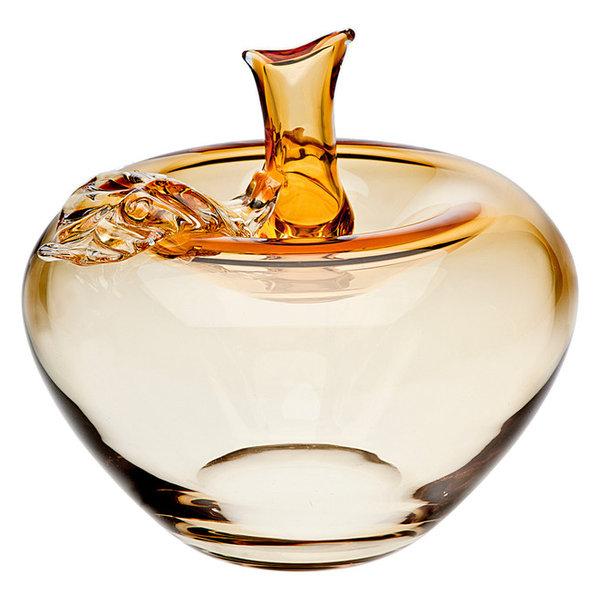 Apple Amber Vase Small