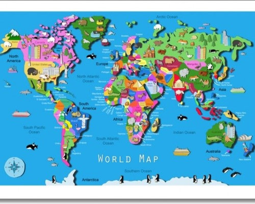 Childrens Wall Maps - Childrens wall map