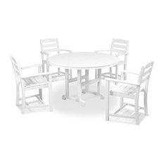 Polywood La Casa Cafe 5-Piece Dining Set, White