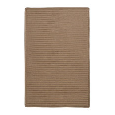 Colonial Mills, Inc - Colonial Mills Solid Cafe Tostado Area Rug, 7'x9' - Outdoor Rugs