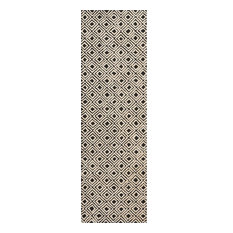 "Nourison Modern Deco Area Rug, 2'3""x7'6"", Black and Beige"