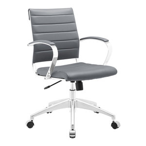Modway Jive Mid Back Office Chair, Gray