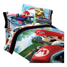 Nintendo Mario Kart Sheet Set, Road Rumble Racing Bedding, Twin