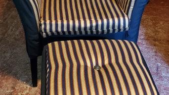 Reupholstered Black + Gold Chair Set: Singular