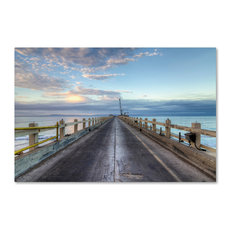 'Carpinteria Pier View I' Canvas Art by Chris Moyer