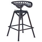 Charlie Metal Tractor Seat Bar Stool Industrial Bar