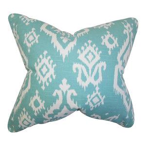 The Pillow Collection Baraka Ikat Bedding Sham Ash King//20 x 36