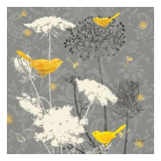 Gray Meadow Lace II by Jill Meyer Canvas Print