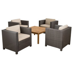 Ideal Tropical Outdoor Lounge Sets by GDFStudio