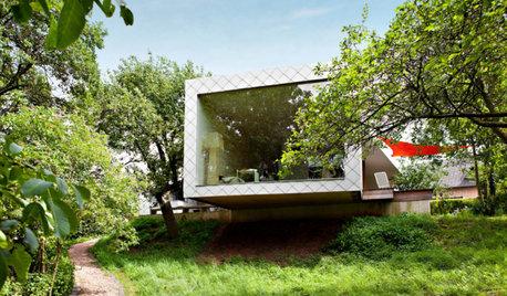 Holzhäuser im Magazin
