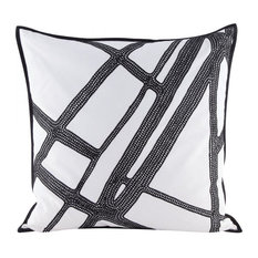 Intersections Decorative Pillow in Embroidery
