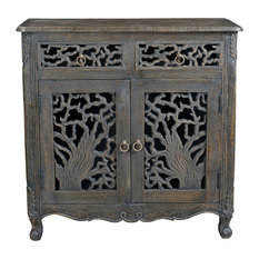 Aria Collection - 2 Drawer 2 Door Carved Sideboard