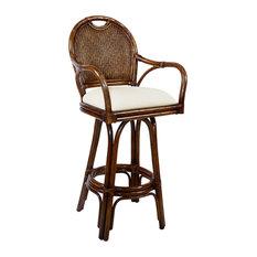 Classic Indoor Swivel Rattan & Wicker 30-inch Barstool - I Need A Dollar