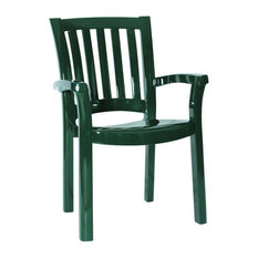 Sunshine Resin Dining Arm Chair Green , Set of 4