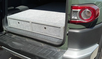 Custom bed platform with drawers for SUV