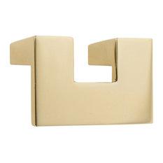 "U Turn Knob 1.25"", French Gold"