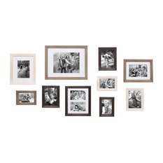 Bordeaux Gallery Wall Wood Picture Frame Set, Multi/Gray 10 Piece