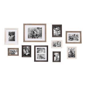 "Bordeau""x Gallery Wall Kit, Set of 10 With Assorted Size Frames, Multicolored"