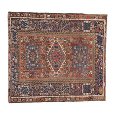 Esmaili Rugs - Consigned, Antique Persian Heriz Rug in a Modern Style, 03'06x04'06 - Area Rugs