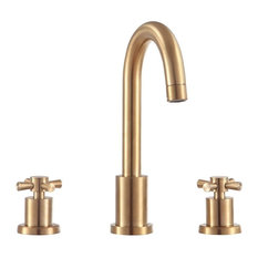 "Messina 8"" Widespread Bath Faucet, Matte Gold"