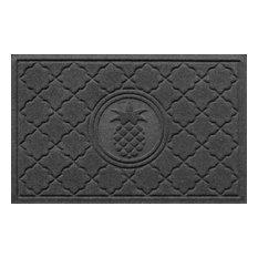 Welcome Doormat, Pineapple, Charcoal