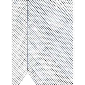 """Leaf Lines (Blue)"" Print by Silke Bonde, 50x70 cm"