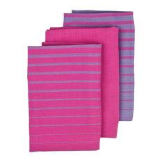 Ladelle International   Gemstone Kitchen Towels, Set Of 3, Pink   Dish  Towels