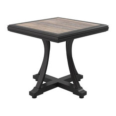 Marsh Creek Outdoor Square End Table, Brown