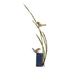 Nuthatch Bird Sculpture Bronze August Breeze