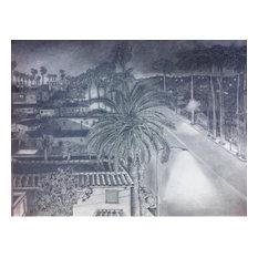 """Franklin Village"", Pencil Drawing"