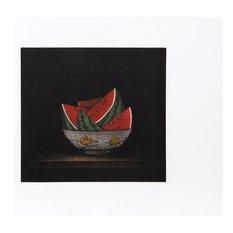 "Tomoe Yokoi ""Watermelons in Bowl"" Mezzotint"