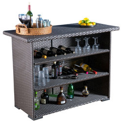 Tropical Wine And Bar Cabinets by GDFStudio