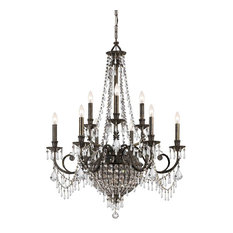 Crystorama Vanderbilt 12-Light Bronze Chandelier