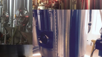 TIG WELDING STAINLESS STEEL BEER VATS FOR A BREWERY