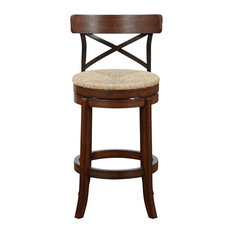 Myrtle Bar Stool, Mahogany