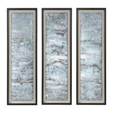 Uttermost Ocean Swell Painted Metal Art, Set of 3, 3 Cartons