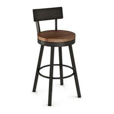 AC-40593 Swivel Stool Wood Counter