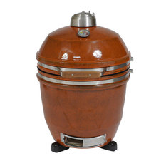 "Hanover - 19"" Ceramic Kamado Grill, Rusted - Outdoor Grills"
