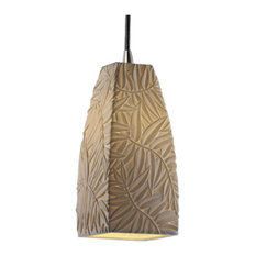 justice design group limoges small pendant with black cord tall tapered square with bamboo bamboo pendant lighting