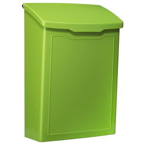 The Marina Wall Mount Mailbox, Lime Green