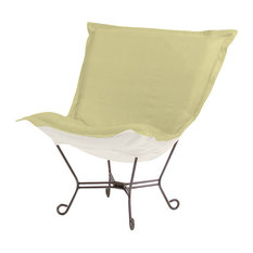 Howard Elliott Sterling Scroll Puff Chair, Willow