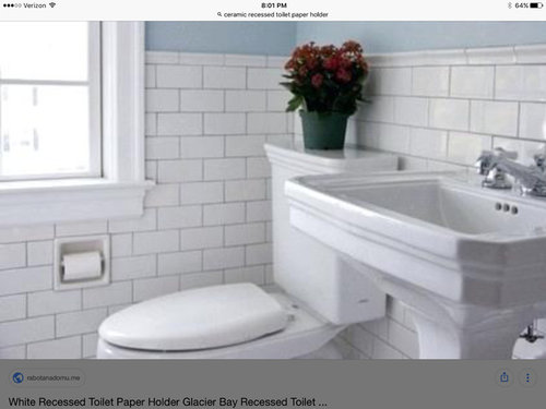 Recessed Porcelainceramic Toilet Paper Holder