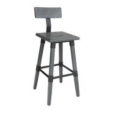 Hunter Bar Chair, Grey Elm
