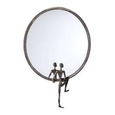 Cyan Design Kobe Mirror #1, Raw Steel
